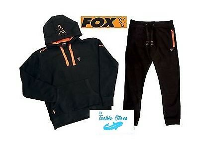 Fox Fishing Black And Orange Hoody And Joggers Set