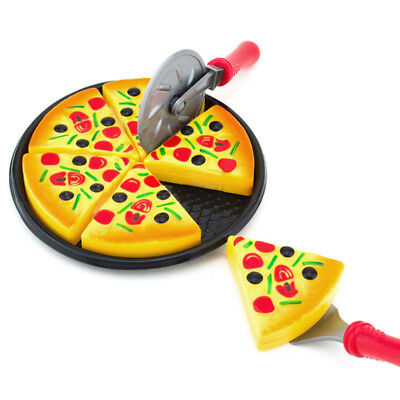 6Pcs Pizza Toy Kids Pretend Play Fake Food Party Cooking Cutting Creative Gift