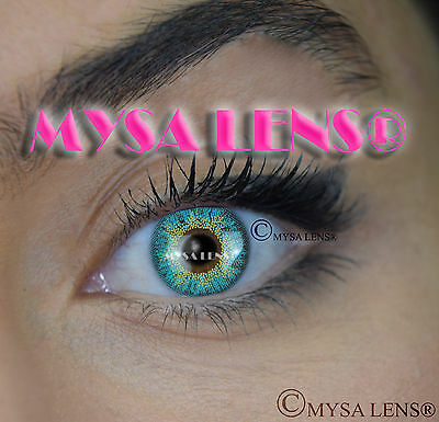 Colored Contact Lenses Kontaktlinsen Turquoise H30 Lens Color 1 Year MYSA LENS