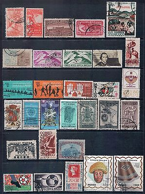 MEXICO - Mixed lot of 43 Stamps, most Good - Fine Used, LH  2 Scans