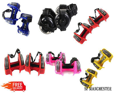 New Flashing Heelie Wheelie Roller Skates Different Colours Available