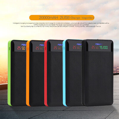 2.1A Dual USB Power Bank Case 6x18650 Battery Charger DIY Box Case Kit for Phone