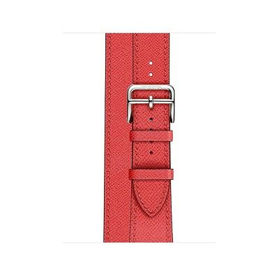 Apple Watch Hermes 38mm Rose Jaipur Epsom Leather Double Tour (Band Only)