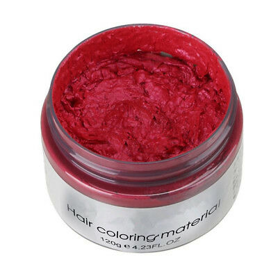 Red Unisex DIY Hair Color Wax Mud Dye Cream Temporary Modeling Available