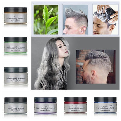 7 Colors Available Unisex DIY Hair Color Wax Mud Dye Cream Temporary Modeling
