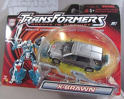 X-BRAWN Transformers Robots in Disguise RID NIP NEW Action Figure (SILVER Vers.)