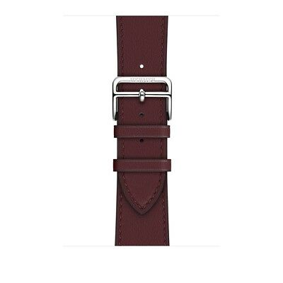 Apple Watch Hermes 38mm Bordeaux Swift Leather Single Tour (Band Only)
