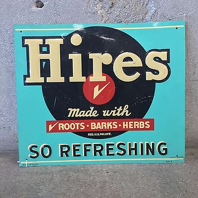 Hires Root Beer embossed metal sign AAA Sign Company