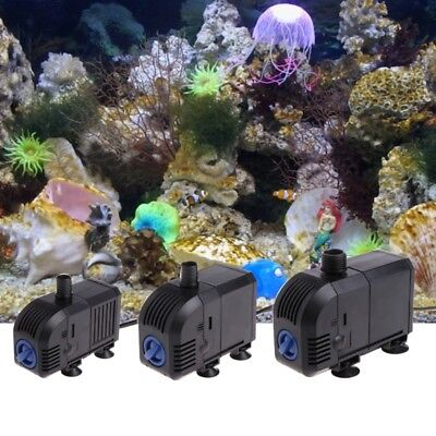 Adjustable Submersible Water Pump Aquarium Fish Tank Fountain 7W 8W 20W