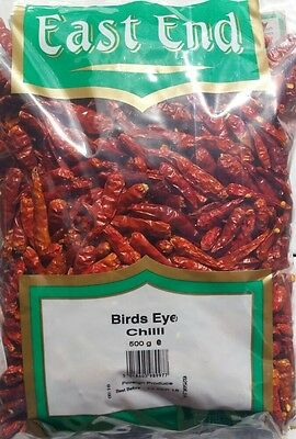 Pure Whole Dried BIRDS EYE CHILLI Chillies, 100g - 500g