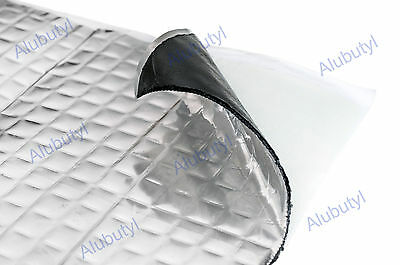 Car Van Damping Mat 0.25 sqm Soundproofing Noise Insulation Mat 4 sheets 25x25cm