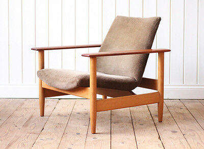Vintage Retro Oak Lounge Easy Arm Chair Mid Century Danish Wegner Style (#2)