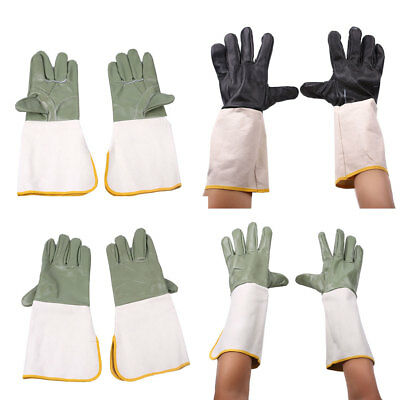 Durable Anti Splash Tig Welders Gauntlet Work Gloves Welding Safety 1Pair