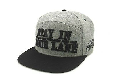 Wholesale Lot of 25 STAY IN YOUR LANE Caps Gray and Black.