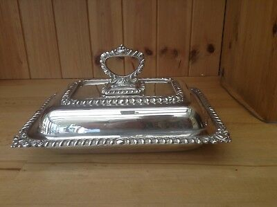 Ornate Vintage Silver Plated Serving Dish/Tureen
