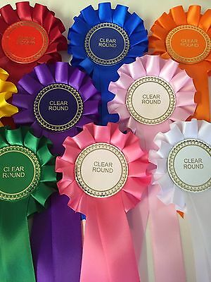 100 X Clear Round Rosettes Job Lot Great Value