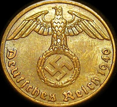 1940 NAZI copper penny ww2 .The real coin,no fakes!!'''//.<]]..