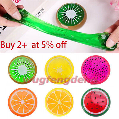 Children Educational Fruit Crystal Clay Putty Jelly Slime Plasticene Mud Kid Toy