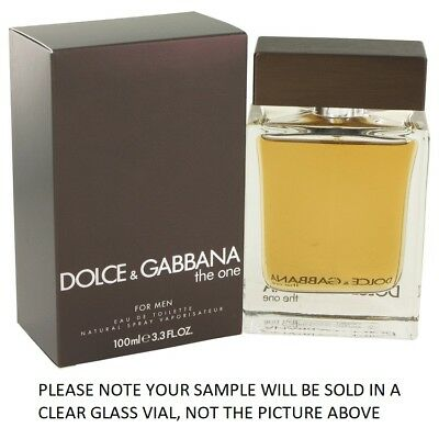 The One For Men by Dolce & Gabbana EDT Mens Cologne Fragrance 2ml, 5ml, 10ml