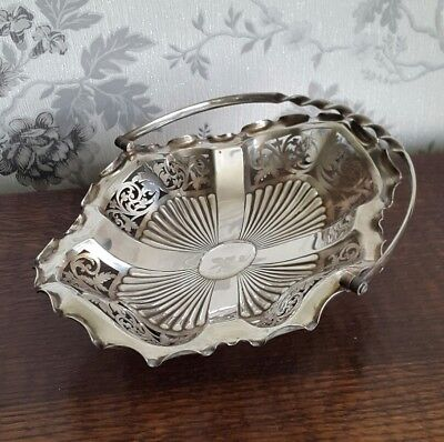 A Lovely Victorian Silver Plated Basket Bowl by O&H Glasgow