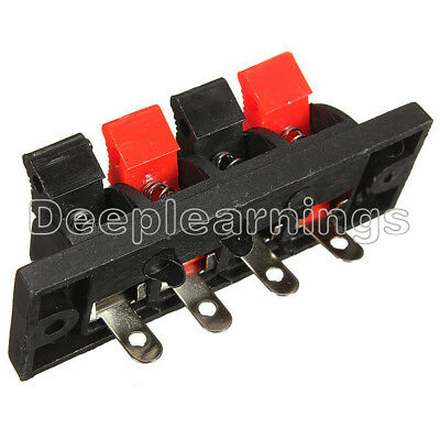 10Pcs 2 Way Stereo Speaker Plate Terminal Strip Push Connector Block J6O6