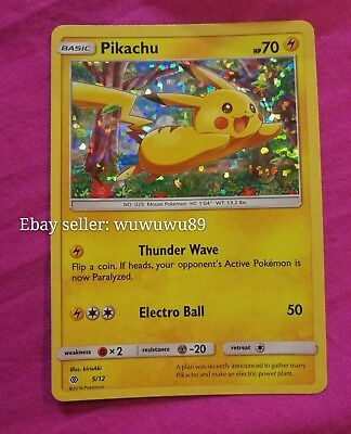 Pokemon card Pikachu from Mcdonalds happy meal 2017 TCG Card Only Used