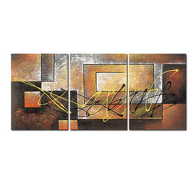 Canvas Print Painting Picture Poster Wall Art Home Decor Abstract Brown Framed