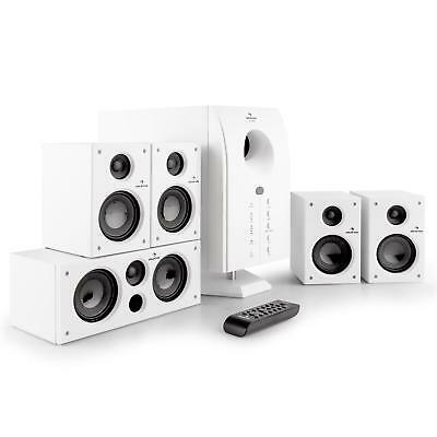 Active 5.1 Surround Speaker & Sub Home Cinema Sound System Audio- White