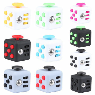 Magic Fidget Cube Anxiety Stress Relief Focus 6-side Gift For Adults&Child