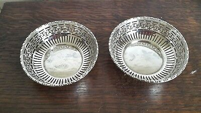A Pair of Vintage Silver Plated Pin Dishes by Mappin & Webb