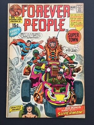 FOREVER PEOPLE #1 1971 DC COMICS 1st ISSUE JACK KIRBY