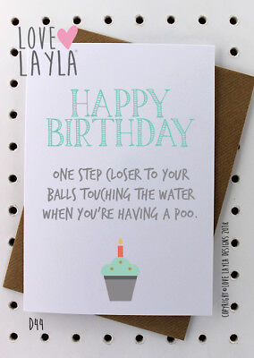 Greetings Card Birthday Card / Comedy/ Love Layla / Funny / Humour / D44