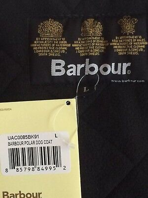 Barbour dog coat - quilted-black NEW in original packaging- Barbour sizing Large