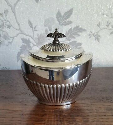 A Late Victorian Silver Plated Tea Caddy by Frank Cobb & Co