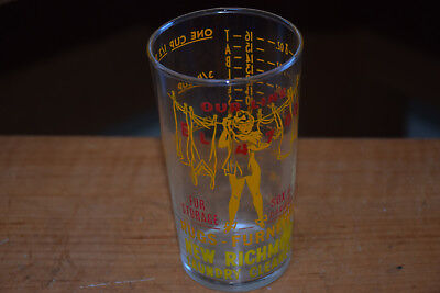 Vintage Our Line Glass Advertising 1-8 Oz. Measuring One Cup Excellent Condition