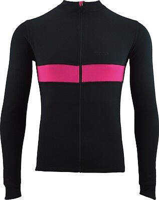 Torm Long Sleeve Merino SportWool Cycle Jersey - Black/Pink Large