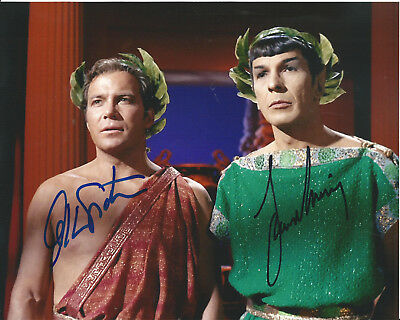 Star Trek Leonard Nimoy William Shatner In-Person Hand-Signed Autographed Photo