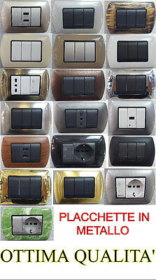 Placche Placchette In Metallo Serie Living International Compatibili Bticino
