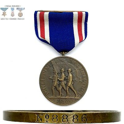 No. 8886 ARMY PHILIPPINE CONGRESSIONAL INSURRECTION MEDAL WRAP BROOCH NUMBERED