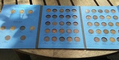 Indian Head Cent Penny Partial Collection Lot 1857-1909 + 16 extras Flying Eagle