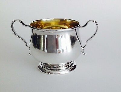 Sterling silver  SUGAR BOWL by LUNT Gold Wash. #1133