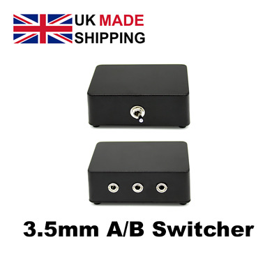 3.5mm A/B Speaker Audio Switch Selector Switcher Box 2 Way Adapter UK DISPATCH