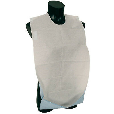 Self Adhesive Disposable Adult Bib With Pocket Pack of 100