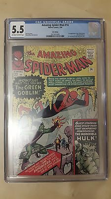 Amazing Spiderman #14 First Green Goblin CGC 5.5