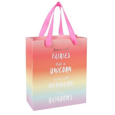 Rainbow Ride a Unicorn Paper Gift Bag Tag Medium Girls Kids Birthday Party Toys