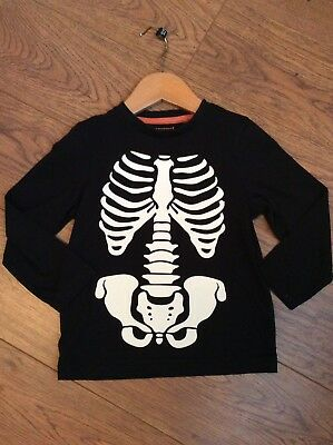 18-24 Months Skeleton Long Sleeve Top Ideal For Halloween