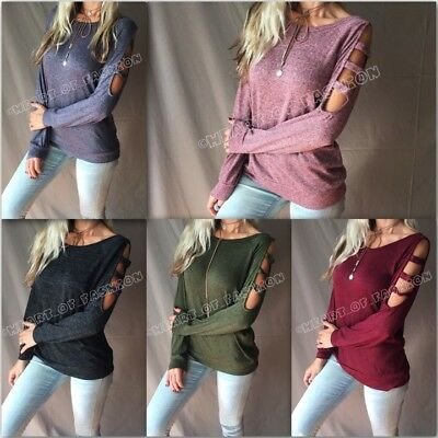 Sexy Marbled Caged Ladder Cutout Long Sleeve Relaxed Knit Tunic Sweater Top
