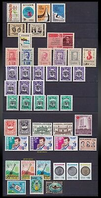 1944 To 1975 Ecuador - Lot Mint , Hinged  To L H ,postage And Air Mail
