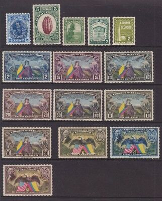 1897 To 1958 Ecuador -Lot Mint , Hinged  To L H ,postage And Air Mail