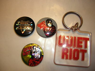 Quiet Riot Button Lot   Of 3 1983 Metal Health Prism Button Kevin Dubrow